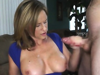 big boobs cumshot handjob